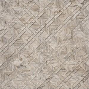 Gresie exterior / interior portelanata Egzor Parquet Grey semilucioasa 42 x 42 cm