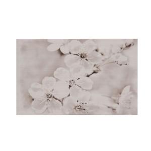 Decor faianta baie / bucatarie Gryfin Flower Light Grey lucios 25 x 40 cm