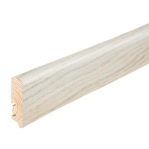 Plinta parchet furnir P20, stejar crem, 2200 x 60 x 20 mm