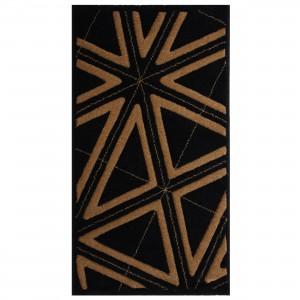 Covor living / dormitor Carpeta Soho 19481-17144 polipropilena frize dreptunghiular negru 160 x 230 cm