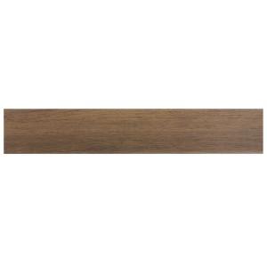 Plinta gresie ceramica Woodstyle, mata, maro inchis, 8 x 45 cm