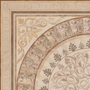 Gresie decor exterior / interior portelanata rectificata Roseton Crema lucioasa crem 60 x 60 cm