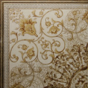 Decor pentru gresie Museum Esquina, crem, lucios, 60 x 60 cm