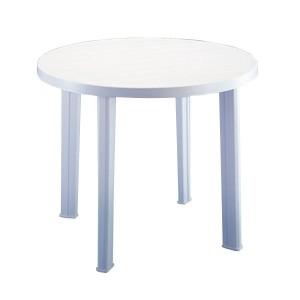 Masa din plastic tondo alb