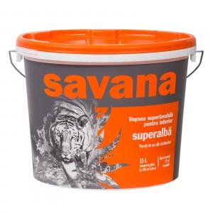 Vopsea superlavabila interior Savana 15 litri alba