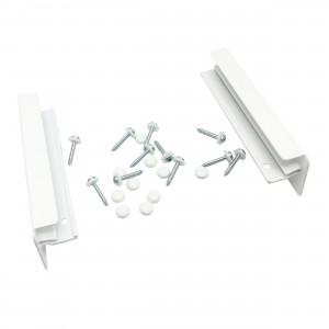 Accesorii pentru glafuri aluminiu, capace + suruburi + capacele mascare, alb RAL 9016, 18 cm