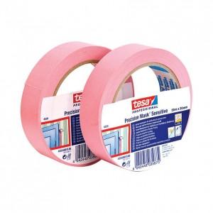 Banda mascare Tesa 4333, roz, interior, suprafete sensibile, 30 mm