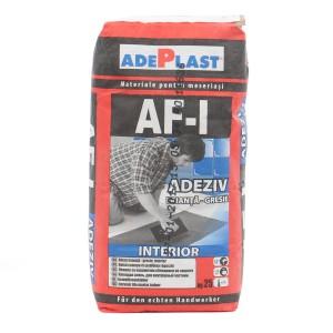 Adeziv gresie si faianta Adeplast AF-I gri, pentru interior, 25 kg