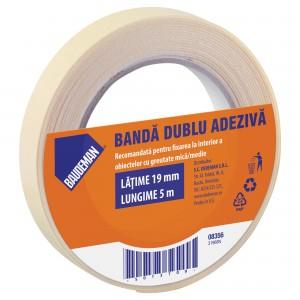 Banda dublu adeziva pentru fixare Baudeman 8356 5 m x 19 mm