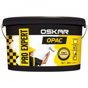 Vopsea lavabila interior, Oskar Pro Expert Opac, alba, 5 L