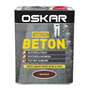Vopsea acrilica Direct pe beton Oskar, interior / exterior, maro roscat, 2.5 L