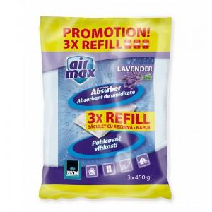 Rezerva aparat antiumiditate Air Max, interior, lavanda, 3 x 450 gr