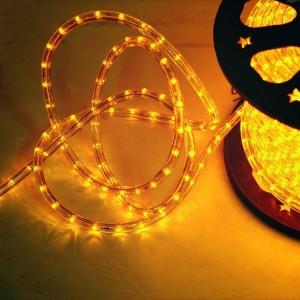 Cablu luminos Hoff galben interior / exterior 11 mm