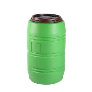 Butoi plastic Plastor Big 24121, cu capac, 150 litri, verde D 52.5 cm