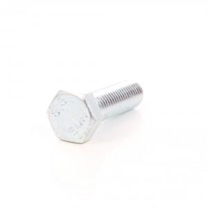 Surub cu cap hexagonal, filetat complet, otel, zincat alb, M14 x 40 mm
