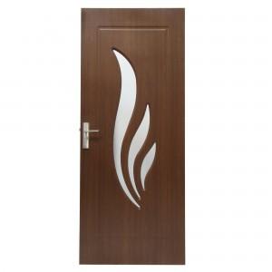 Usa de interior din lemn cu geam Super Door F03-88-S stanga / dreapta stejar inchis 203 x 88 cm