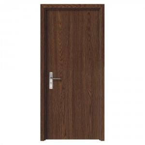 Usa de interior din lemn, SuperDoor F10-68-S, stanga / dreapta, stejar inchis, 203 x 68 cm