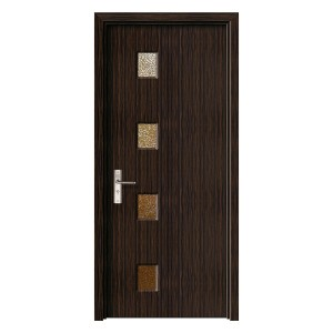 Usa de interior din lemn cu geam Super Door F16-88-T stanga / dreapta wenge 203 x 88 cm