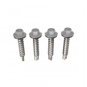 Surub pentru tigla metalica, autoforant, Bilka, argintiu RAL 9006, 4.8 x 35 mm, 250 bucati