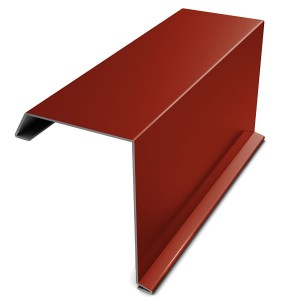 Bordura fronton Bilman rosu lucios (RAL 3011) 2000 x 312.5 x 0.4 mm