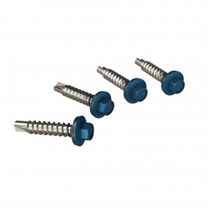 Surub pentru tigla metalica, autoforant, Bilka, albastru RAL 5010, 4.8 x 35 mm, 250 bucati