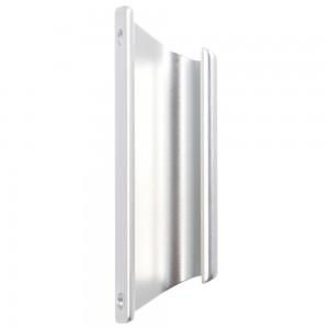 Maner usa balcon, tip scoica, argintiu, 92 x 12 mm
