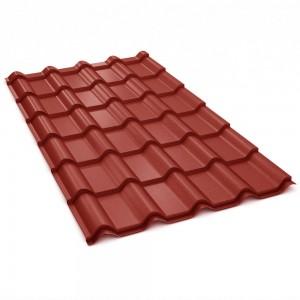 Tigla metalica Bilka Balcanic, rosu inchis mat (RAL 3009), 2230 x 1180 x 0.5 mm EN 10143