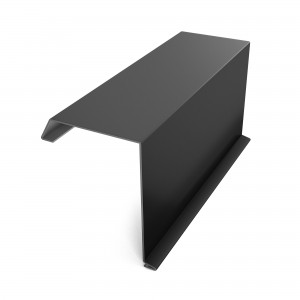 Bordura fronton Baudeman negru lucios (RAL 9005) 2000 x 312.5 x 0.45 mm