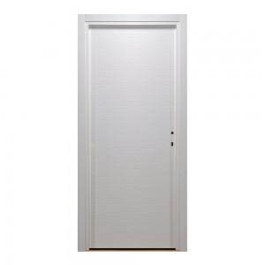 Usa interior celulara, Eco Euro Doors HDF D, stanga, alb, 205 x 76 cm cu toc