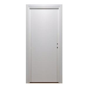 Usa interior celulara, Eco Euro Doors HDF D, stanga, alb, 205 x 86 cm cu toc