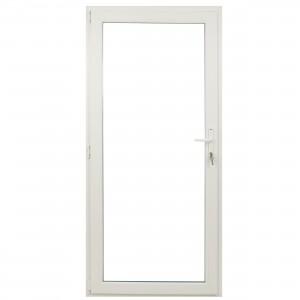 Usa exterior din PVC cu geam termopan, Far Est Weiss, 3 camere, prag PVC, stanga, alb, 78 x 188 cm