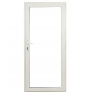 Usa exterior din PVC cu geam termopan, Far Est Weiss, 3 camere, prag PVC, dreapta , alb, 78 x 188 cm