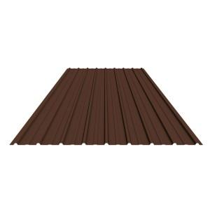 Tabla zincata cutata vopsita, maro (RAL 8017), H 10 0.25 x 910 x 2000 mm