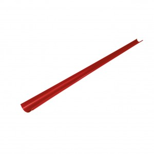Jgheab de scurgere metalic semicircular, D 125 mm, Bilka, rosu RAL 3011, 2 m