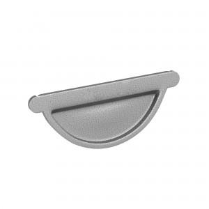 Capac pentru jgheab Baudeman, aluzinc lucios, D 125 mm