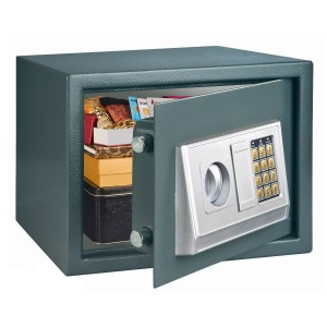 Seif hotel Rottner Prostar One T05889, electronic + cheie, din metal, antracit, 26 x 35 x 28 cm