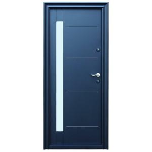 Usa metalica pentru exterior Tracia Pontus, stanga, diverse culori, 205 x 88 cm + accesorii