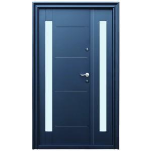 Usa metalica pentru exterior Tracia Pontus dubla, stanga, diverse culori, 205 x 120 cm + accesorii