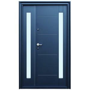Usa metalica pentru exterior Tracia Pontus dubla, dreapta, diverse culori, 205 x 120 cm + accesorii