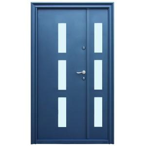 Usa metalica pentru exterior Tracia Danubius dubla, stanga, diverse culori, 205 x 120 cm + accesorii