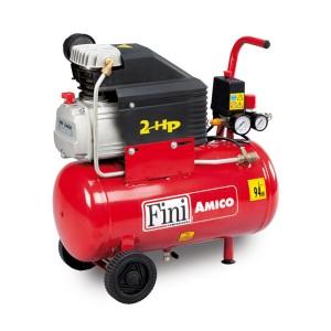 Compresor aer cu piston, cu ulei, Fini Amico 25/2400-2M, 1.5 Kw, 24 litri