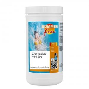 Clor Mini tablete de 20 grame, Summer Fun, pentru apa piscina, 1 kg