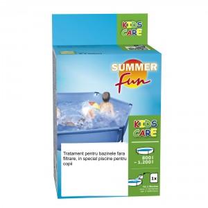 Tratament pentru apa piscina fara filtrare, Kids Care 800 - 1200L