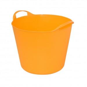 Galeata flexibila ArtPlast Flex Bag, portocalie, cu 2 manere, 38 cm, 24L