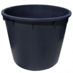 Butoi plastic Plastor 24170, fara capac, 1000 litri, negru D 124 cm