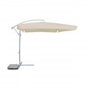 Umbrela soare, banana, pentru terasa SPH-00019, patrata, structura metal, crem, 250 x 250 cm