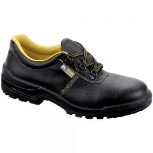 Pantofi de protectie Goru cu bombeu metalic, piele +  poliamida, negru, S1 SRA, marimea 36