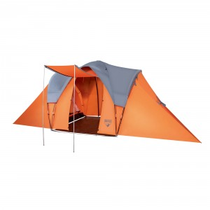 Cort camping, 6 persoane, Bestway CampBase 68016, poliester, 610 x 240 x 210 cm