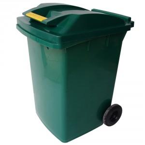 Europubela cu rotile, verde, 250L