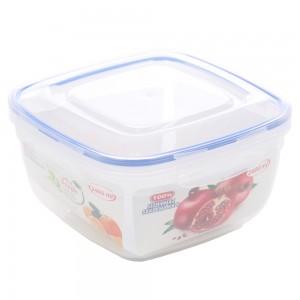 Cutie depozitare pentru alimente cu capac etans, Inaplast, 30105, plastic, transparenta, 2.4 L